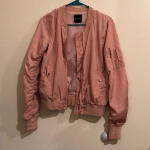 Forever21 Pink Bomber Jacket Small